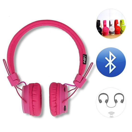 Dulcii Dulcii Foldable Portable Bluetooth Wireless Wired Dual Capable On Ear Stereo Headphone Headset For Kids Support Micro Sd Card Fm Radio Streaming Built In Microphone For Hands Free Calling For Smartphone Tablet Pc Mac Laptop
